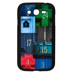 Door Number Pattern Samsung Galaxy Grand Duos I9082 Case (black) by Amaryn4rt