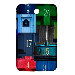 Door Number Pattern Samsung Galaxy Tab 3 (7 ) P3200 Hardshell Case  by Amaryn4rt
