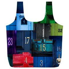 Door Number Pattern Full Print Recycle Bags (l)  by Amaryn4rt