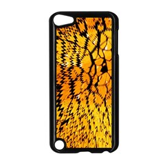 Yellow Chevron Zigzag Pattern Apple Ipod Touch 5 Case (black) by Amaryn4rt