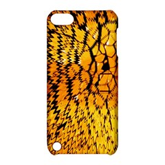 Yellow Chevron Zigzag Pattern Apple Ipod Touch 5 Hardshell Case With Stand by Amaryn4rt