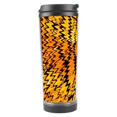 Yellow Chevron Zigzag Pattern Travel Tumbler by Amaryn4rt