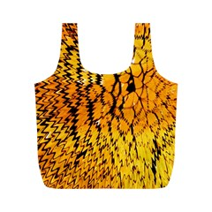 Yellow Chevron Zigzag Pattern Full Print Recycle Bags (m)  by Amaryn4rt