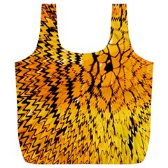 Yellow Chevron Zigzag Pattern Full Print Recycle Bags (l)  by Amaryn4rt