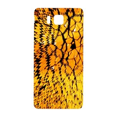 Yellow Chevron Zigzag Pattern Samsung Galaxy Alpha Hardshell Back Case by Amaryn4rt