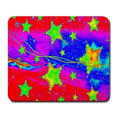 Red Background With A Stars Large Mousepads by Amaryn4rt