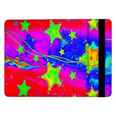Red Background With A Stars Samsung Galaxy Tab Pro 12 2  Flip Case by Amaryn4rt