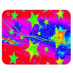 Red Background With A Stars Double Sided Flano Blanket (medium)  by Amaryn4rt