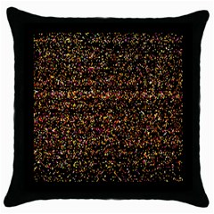 Colorful And Glowing Pixelated Pattern Throw Pillow Case (black) by Amaryn4rt