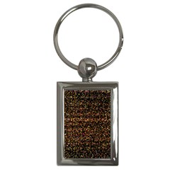 Colorful And Glowing Pixelated Pattern Key Chains (rectangle)  by Amaryn4rt