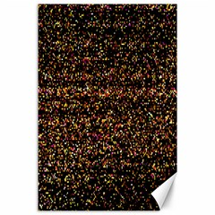 Colorful And Glowing Pixelated Pattern Canvas 24  X 36  by Amaryn4rt