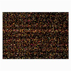 Colorful And Glowing Pixelated Pattern Large Glasses Cloth by Amaryn4rt