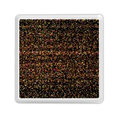 Colorful And Glowing Pixelated Pattern Memory Card Reader (square)  by Amaryn4rt