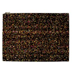Colorful And Glowing Pixelated Pattern Cosmetic Bag (xxl)  by Amaryn4rt