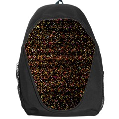 Colorful And Glowing Pixelated Pattern Backpack Bag by Amaryn4rt