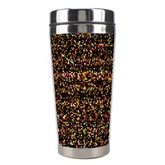 Colorful And Glowing Pixelated Pattern Stainless Steel Travel Tumblers by Amaryn4rt