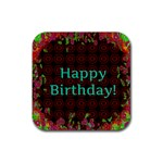 Happy Birthday To You! Rubber Coaster (Square)  Front