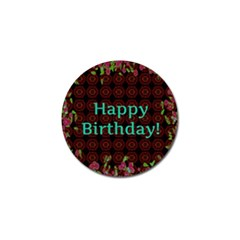 Happy Birthday To You! Golf Ball Marker by Amaryn4rt