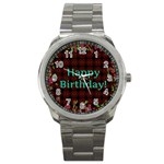 Happy Birthday To You! Sport Metal Watch Front