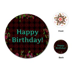 Happy Birthday To You! Playing Cards (round)
