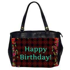 Happy Birthday To You! Office Handbags (2 Sides)  by Amaryn4rt