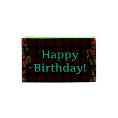 Happy Birthday To You! Cosmetic Bag (xs) by Amaryn4rt