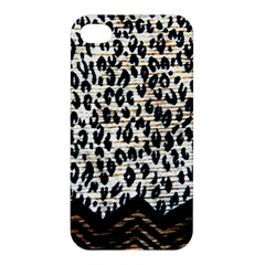 Tiger Background Fabric Animal Motifs Apple Iphone 4/4s Premium Hardshell Case by Amaryn4rt