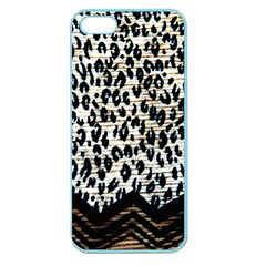 Tiger Background Fabric Animal Motifs Apple Seamless Iphone 5 Case (color) by Amaryn4rt