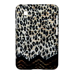 Tiger Background Fabric Animal Motifs Samsung Galaxy Tab 2 (7 ) P3100 Hardshell Case  by Amaryn4rt