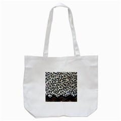 Tiger Background Fabric Animal Motifs Tote Bag (white) by Amaryn4rt