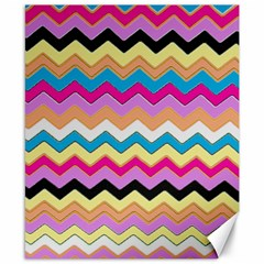 Chevrons Pattern Art Background Canvas 8  X 10  by Amaryn4rt