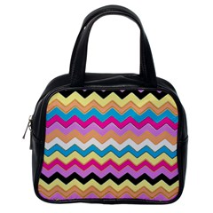 Chevrons Pattern Art Background Classic Handbags (one Side)