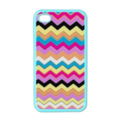 Chevrons Pattern Art Background Apple Iphone 4 Case (color) by Amaryn4rt
