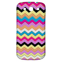 Chevrons Pattern Art Background Samsung Galaxy S3 S Iii Classic Hardshell Back Case by Amaryn4rt