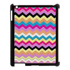 Chevrons Pattern Art Background Apple Ipad 3/4 Case (black) by Amaryn4rt