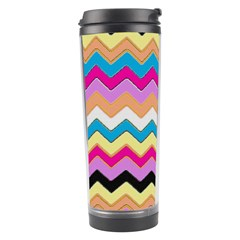 Chevrons Pattern Art Background Travel Tumbler by Amaryn4rt