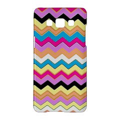 Chevrons Pattern Art Background Samsung Galaxy A5 Hardshell Case  by Amaryn4rt