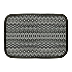 Greyscale Zig Zag Netbook Case (medium)