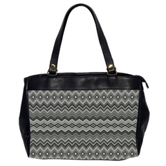 Greyscale Zig Zag Office Handbags (2 Sides)  by Amaryn4rt