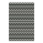 Greyscale Zig Zag Shower Curtain 48  x 72  (Small)  42.18 x64.8 Curtain