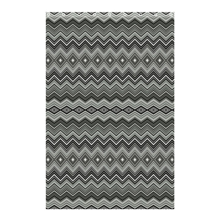 Greyscale Zig Zag Shower Curtain 48  x 72  (Small)