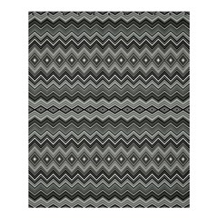 Greyscale Zig Zag Shower Curtain 60  X 72  (medium)  by Amaryn4rt
