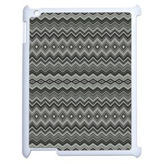 Greyscale Zig Zag Apple Ipad 2 Case (white) by Amaryn4rt