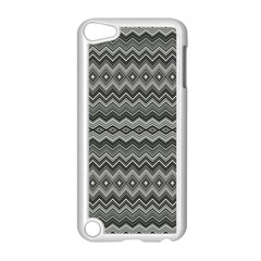 Greyscale Zig Zag Apple Ipod Touch 5 Case (white) by Amaryn4rt