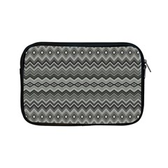 Greyscale Zig Zag Apple Ipad Mini Zipper Cases by Amaryn4rt