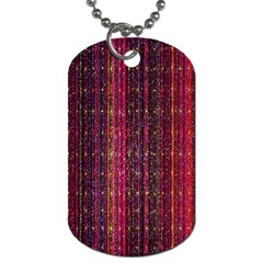 Colorful And Glowing Pixelated Pixel Pattern Dog Tag (one Side) by Amaryn4rt