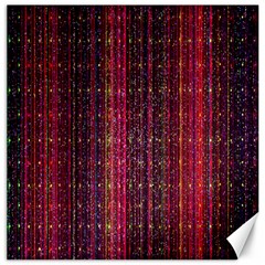 Colorful And Glowing Pixelated Pixel Pattern Canvas 12  X 12   by Amaryn4rt