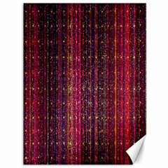 Colorful And Glowing Pixelated Pixel Pattern Canvas 36  X 48   by Amaryn4rt
