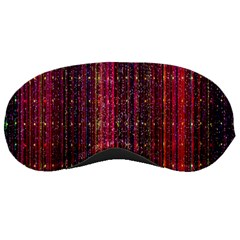 Colorful And Glowing Pixelated Pixel Pattern Sleeping Masks by Amaryn4rt