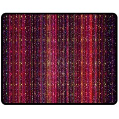 Colorful And Glowing Pixelated Pixel Pattern Fleece Blanket (medium)  by Amaryn4rt